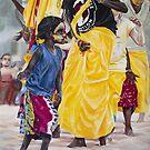 Girl and the dancers II by alstrangeways
