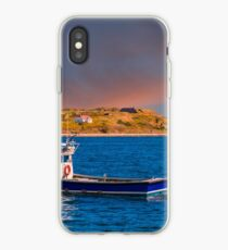 Fishing Boat Past Small Lighthouse iPhone Case