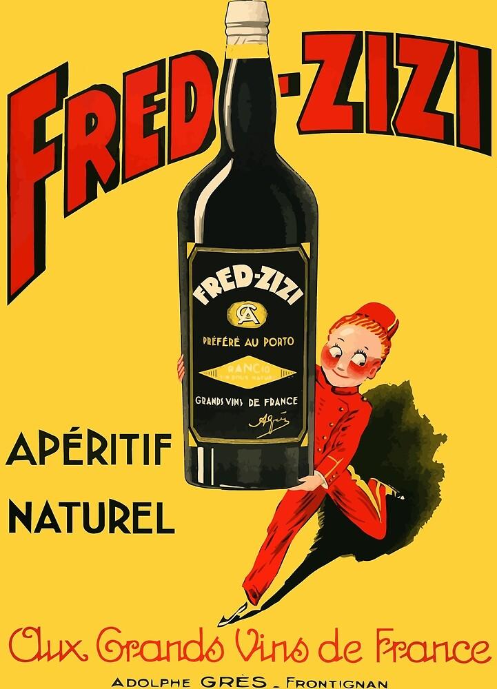 Vintage Fred - Zizi Aperitif Naturel, 1932 French Wine