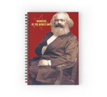 Karl Marx Workers Unite- Shirt, notebook, bags, cases, & more Spiral Notebook