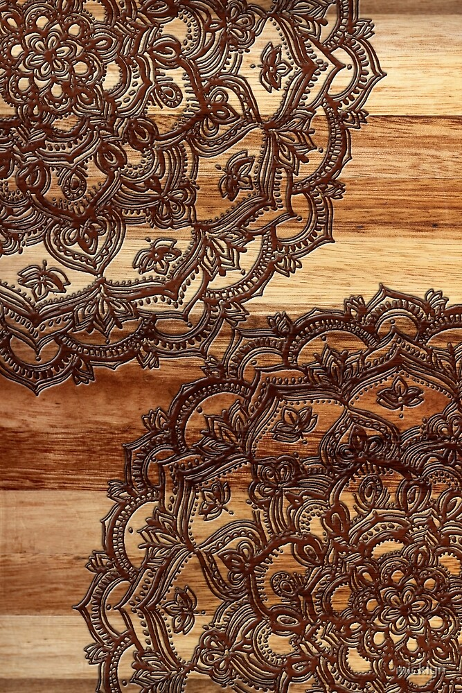 Burnt Wood Chocolate Doodle by micklyn