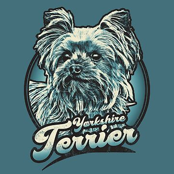 Yorkshire Terrier Retro Distressed Graphic by RycoTokyo81