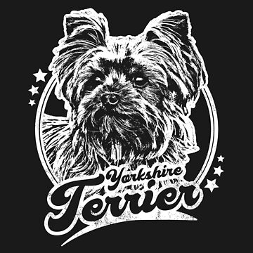 Yorkie Dog Tribute Distressed Graphic by RycoTokyo81