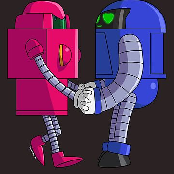 Cute Robots In Love by Nosek1ng