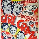 Vintage Hollywood Nostalgia Girl Crazy Film Movie Advertisement Poster by jnniepce
