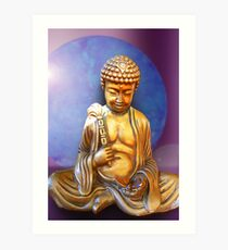 Buddha with Butterfly Art Print