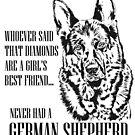 German Shepherd Dog - GSD by k9printart