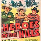 Vintage Hollywood Nostalgia The Three Mesquiteers Heroes of the Hills Film Movie Advertisement Poster by jnniepce