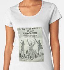 Vintage Hollywood Nostalgia Gunga Din Cary Grant Douglas Fairbanks Film Movie Advertisement Poster Premium Scoop T-Shirt