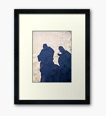 Sandy Shadows Framed Print
