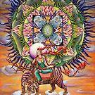 Fire Spine Mandala by Julie Ann Accornero