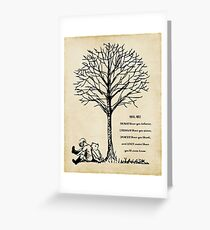 winnie the pooh - you are braver Greeting Card