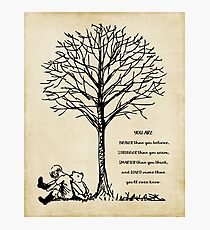 winnie the pooh - you are braver Photographic Print