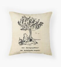 Winnie the Pooh - How do you spell love? Throw Pillow