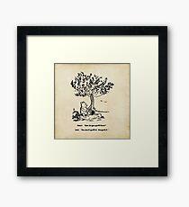 Winnie the Pooh - How do you spell love? Framed Print