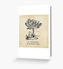 Winnie the Pooh - How do you spell love? Greeting Card