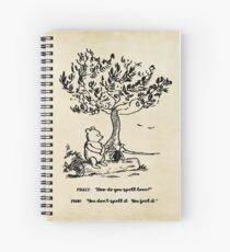 Winnie the Pooh - How do you spell love? Spiral Notebook