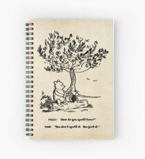 Cuaderno de espiral Winnie the Pooh: ¿Cómo se deletrea el amor?