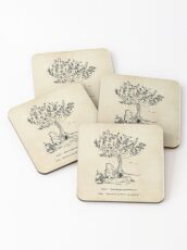 Winnie the Pooh - How do you spell love? Coasters