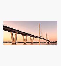 Queensferry Crossing Bridge Sunset Photographic Print