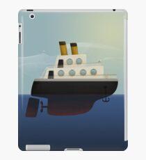The little big boat on the sea iPad Case/Skin