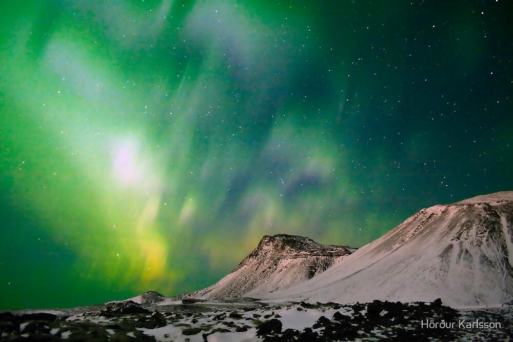Northern Light on Iceland by Hörður Karlsson