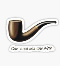 """Pegatina Magritte """"La traición de imágenes"""""""