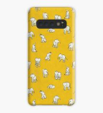 Elephants in Yellow Case/Skin for Samsung Galaxy