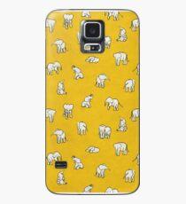 Elefanten in Gelb Hülle & Klebefolie für Samsung Galaxy