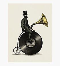 Lámina fotográfica Hombre musical