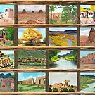 New Mexico ~ Southwest ~ Oil Painting Collage by Barbara Applegate