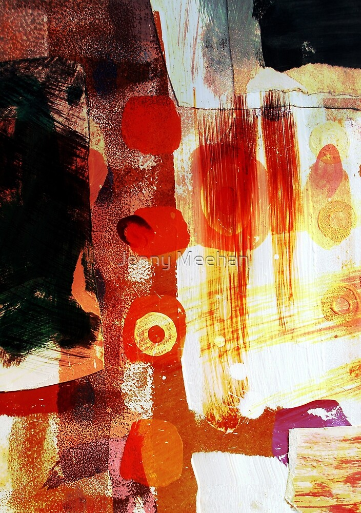 Hot Stuff One Digital Collage/Painting-Print by Jenny Meehan by Jenny Meehan