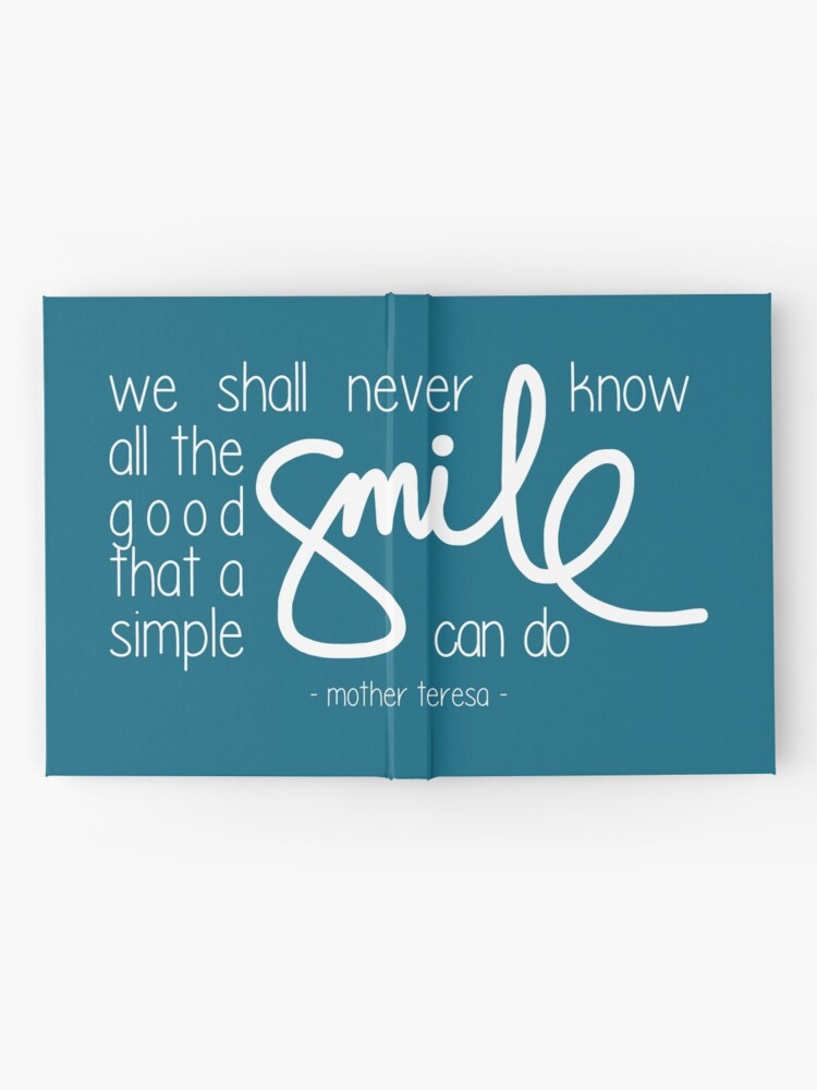 Alternate view of A simple smile (dark) Hardcover Journal
