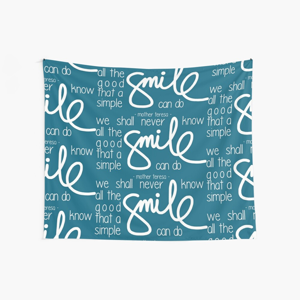 A simple smile (dark) Wall Tapestry