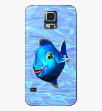 Cute Blue Fish Cartoon 3D Digital Art Case/Skin for Samsung Galaxy