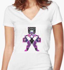 Garnet-symmetric Women's Fitted V-Neck T-Shirt