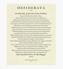 Desiderata Poem on Parchment-Traditional Photographic Print