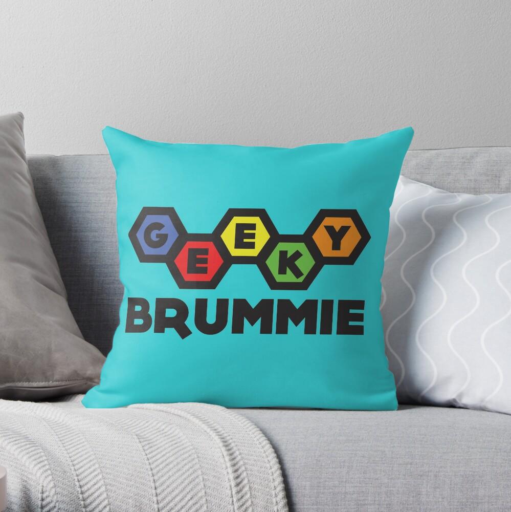 The Classic Geeky Brummie Logo Throw Pillow