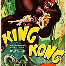 Vintage Hollywood Nostalgia King Kong Film Movie Advertisement Poster by jnniepce