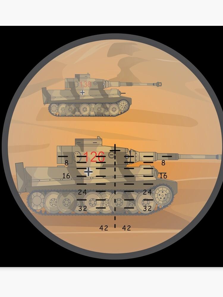 Tiger Tanks In Sherman Tank Gun Sights World War II German Panzer Tank |  Canvas Print