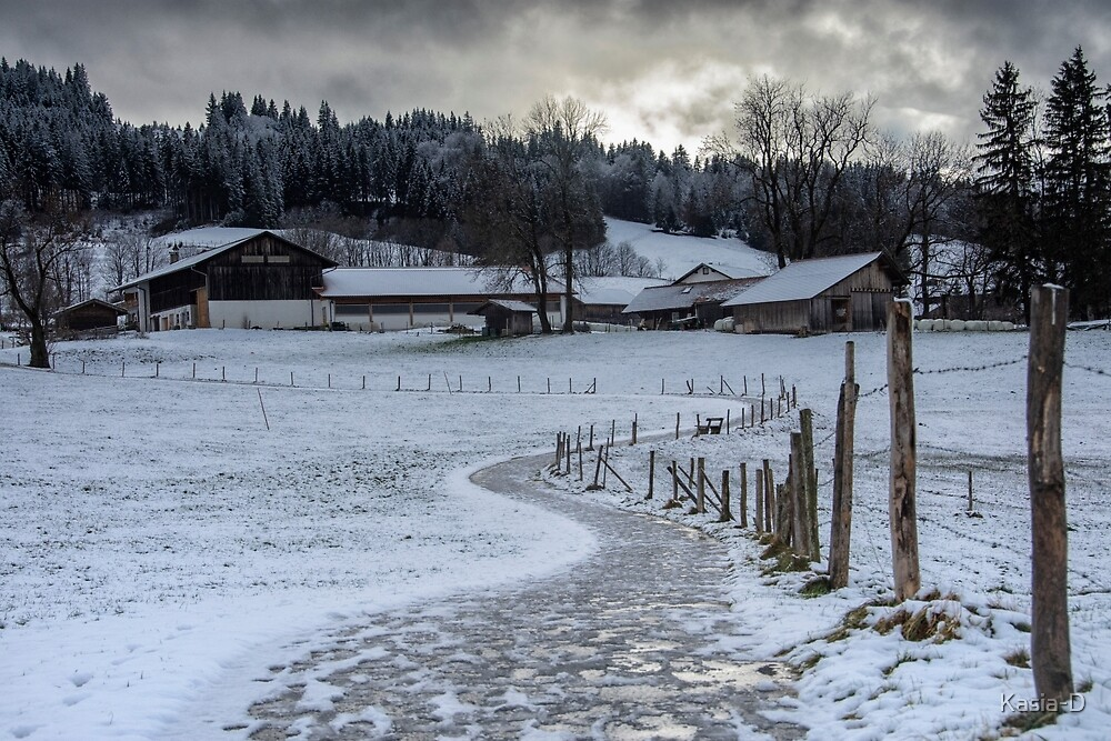 Bavarian Farm in Winter by Kasia-D