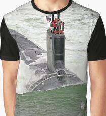 USS JOHN WARNER (SSN-785) PHOTO Graphic T-Shirt