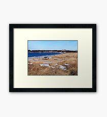 Snowy Montauk Seashore Framed Print