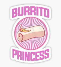 Burrito Princess Sticker
