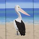 """Wave Watching"" Pelican northern beaches by Taniakay"
