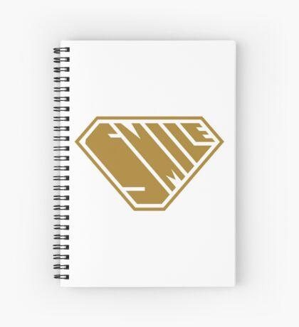 Smile SuperEmpowered (Gold) Spiral Notebook