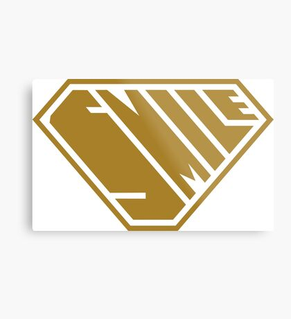 Smile SuperEmpowered (Gold) Metal Print