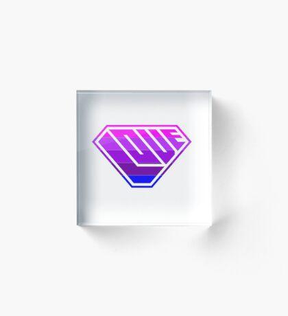 Love SuperEmpowered (Light Pink, Purples & Blue) Acrylic Block