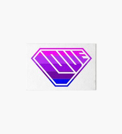 Love SuperEmpowered (Light Pink, Purples & Blue) Art Board