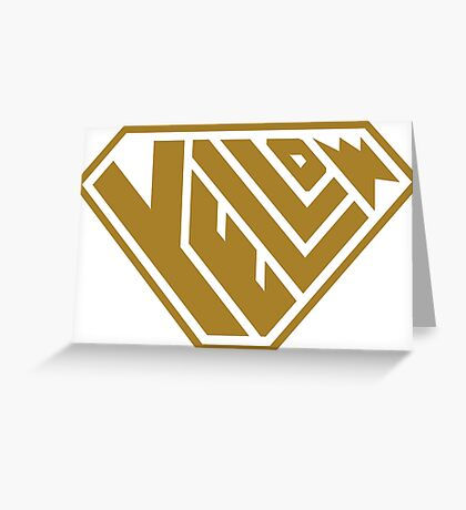 Yellow SuperEmpowered (Gold) Greeting Card